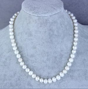 White Freshwater Pearl Necklace & Earrings